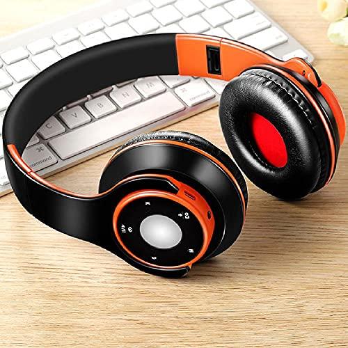 ZWWB Auriculares estéreo Bluetooth 5.0 con micrófono Compatible con Samsung Smartphone PC TV Laptop Tablet Audio