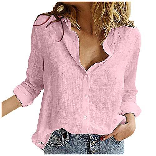 YANFANG Camisa Moda para Mujer,Nudo Informal Floral Manga Corta Camisa con Cuello en v Blusa Tops Casual básico, Blue,L