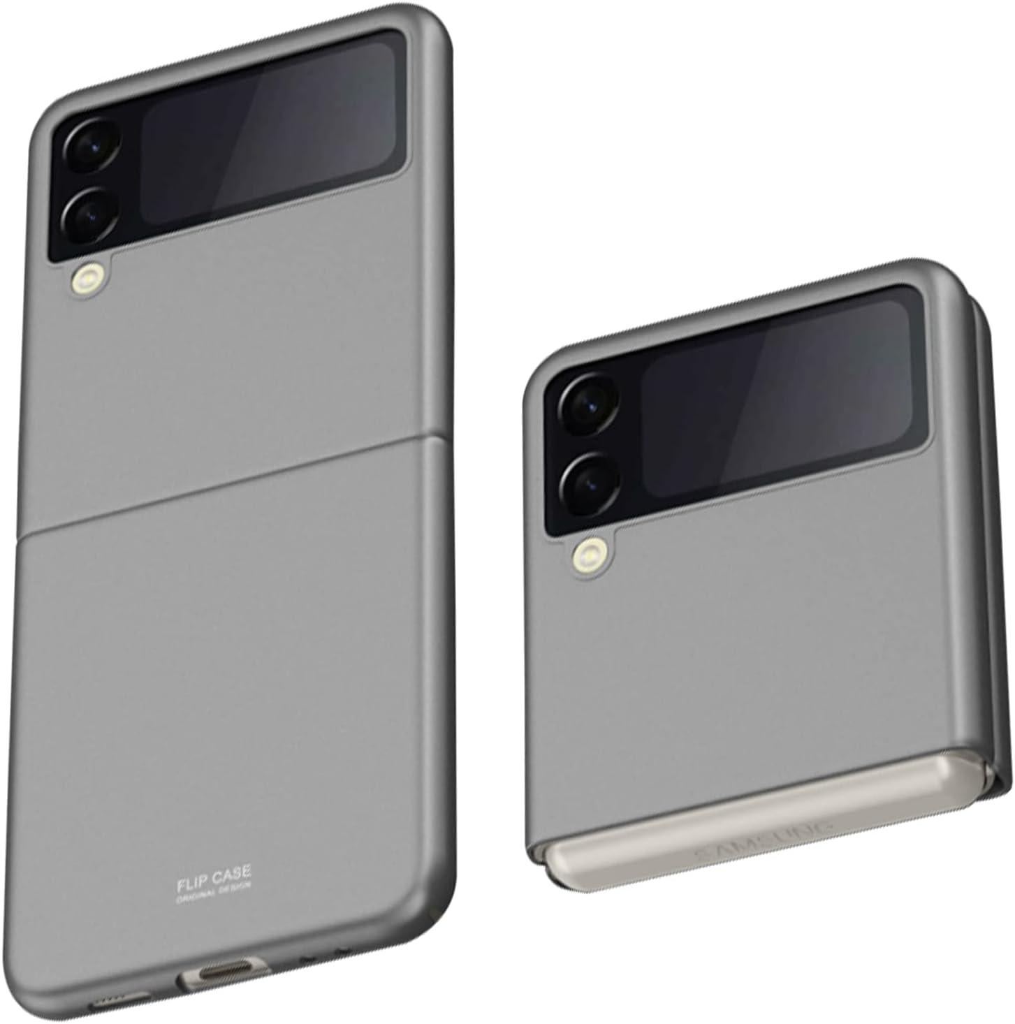 Z Flip 3 Case, Slim fit Samsung z flip 3 case 5G Phone Case Full Protection Cover Hard PC Shockproof Durable Protective Phone Cover for Z Flip3 5G (Gray)