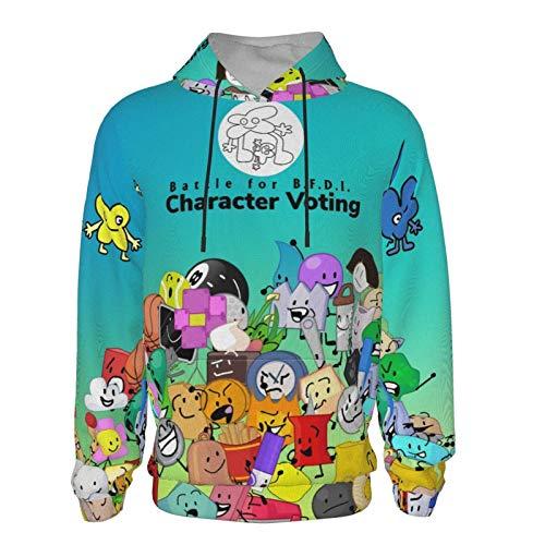 Battle-for-Bfdi Kids Hoodie, Classic Fleece Hooded Sweatshirt, with Pocket Pullover Hoodie for Boys Girls Black