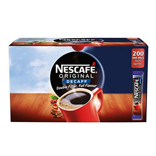 NESCAF? Original Instant Decaffeinated Coffee Stick Packs, Box of 200