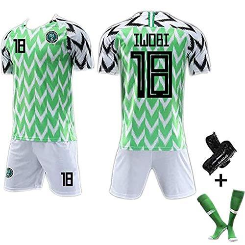 Camiseta de fútbol para Hombre # 7# 10# 18 Camiseta de la Copa Mundial de Nigeria 2018, Ropa Deportiva cómoda fanáticos #18-XL