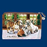 Bulldog Zippered Wallet Pouch Diseñado por Ruth Maystead (BLD-MP) Bulldog Zippered Wallet Pouch...