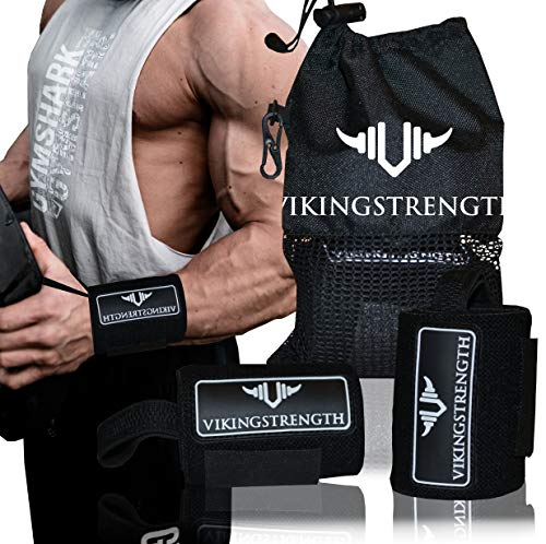 Vikingstrength Wrist Brace Support for Weight lifting, Crossfit, Bodybuilding and Fitness. Premium Quality Wrist Wraps for Pain relief and Recovery. Wrist Strap used by all Athletes, for Men and Woman