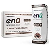 ENU RTD Chocolate Whey Protein Shake 20g (18 Pack)   Lactose & Gluten Free, Non-GMO Workout Drink For Muscle Gain   Healthy Weight Gain Nutrition Drink