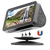 Kosnail Echo Show Stand for Echo Show 5 and Echo Show 8, Universal Adjustable Speaker Stand Mount Magnetic Holder with Aluminum Anti-Slip Base, 360 Degree Rotation, Tilt Function (Black)