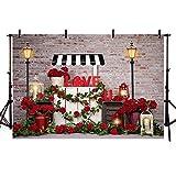 MEHOFOND Telones de fondo para el día de San Valentín, para boda, fondo de rosas rojas, retro,...