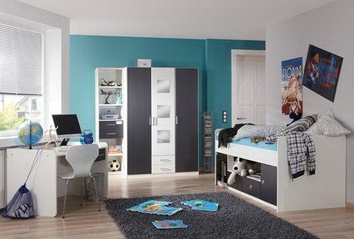 lifestyle4living Jugendzimmer, Jugendzimmer Jungen, Jugendzimmer Mädchen, 3-TLG.