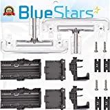 [UPGRADED] Ultra Durable W10712395 Dishwasher METAL Rack Adjuster Kit Replacement by Blue Stars - Exact Fit For Whirlpool Kenmore Dishwashers - Replaces W10250159 W10350375 AP5957560 W10712395VP