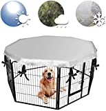 Dog Crate Cover for Outdoor and Indoor,Water Proof & UV Resistant Snowproof Pet Playpen Cover, Escape Proof Privacy Kennel Cover Fits 31 Inches Pen with 8 Panels