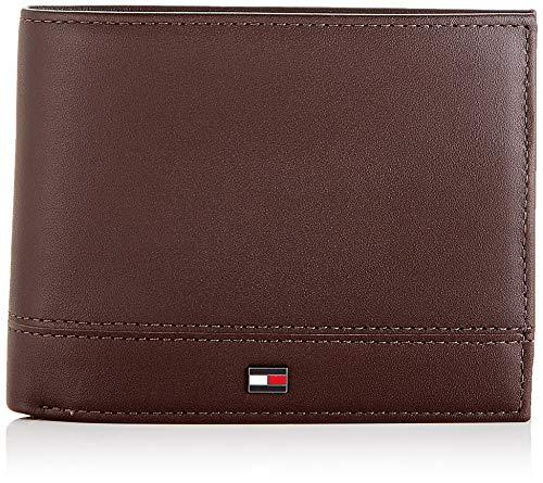 Tommy Hilfiger Herren Th Essential Cc Flap And Coin Geldbörse, Braun (Testa Di Moro), 1x1x1 cm