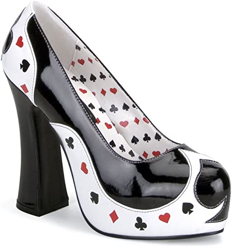 Funtasma POKER-21 - schuhe Carnaval Traje Halloween, US-Damen EU-39   US-9   UK-6