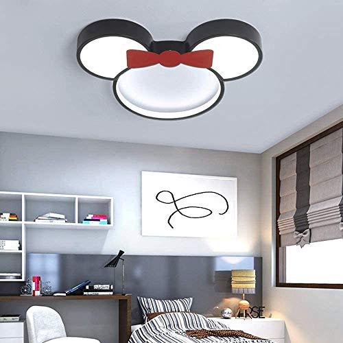 Preisvergleich Produktbild Moderne Cartoon Deckenleuchte Kreative Kinderzimmer Lampe LED Baby Lampe Mickey Mouse acryl lampenschirm für Jungen Mädchen Schlafzimmer kinderzimmer Deckenlampe 3000K Warmes Licht, Minnie, 24W~Ø50cm