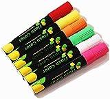 DEEDEEDA Surligneurs Marqueur fluorescent, crayon de marqueur incandescent mené de tableau noir able, 6 marqueurs de panneau les surfaces non poreuses.