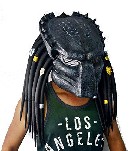 1:1 Predator Replica Mask Latex Helmet Cosplay Costume (Wolf Predator)