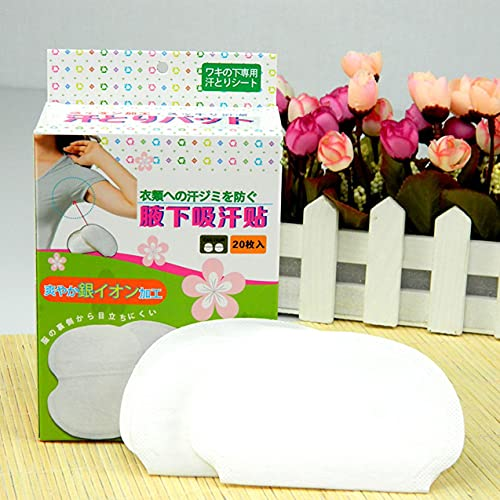 Zhou-YuXiang Almohadillas Desechables para el Sudor en Las Axilas para la Ropa, Almohadillas absorbentes para Las Axilas, desodorantes de Verano, Pegatinas de Escudo