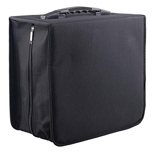 Fasmov Polyester 400 Disc CD/DVD Binder DVD Wallet Case, Black