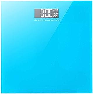 Iceclubs - Básculas de baño digitales compactas, cristal templado, lectura precisa instantánea con función de paso a paso, mide el peso corporal, pantalla digital fácil de leer, (azul) 180 kg/100 G