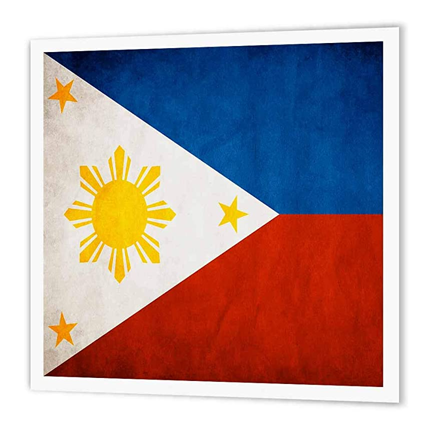 3dRose ht_28282_2 Philippines Flag-Iron on Heat Transfer Paper for White Material, 6 by 6-Inch