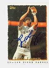 Luis Lopez AUTOGRAPH 1995 Topps San Diego Padres