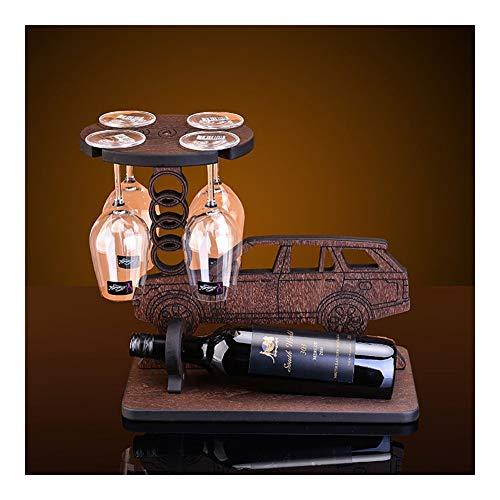 Bdb wijnhouder tafelwijnkelk flessenrek massief hout antiek vrijstaande kleine wijnopslag rek voor keuken Countertop huisbar decoratief geschenken handwerk