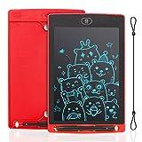 IDEASY Tableta de Escritura LCD de 8.5 Pulgadas, Tableta de Dibujo de un Solo Color, Tablero de Escritura LCD Electrónico para Niños, Escuela, el Hogar y la Oficina (Rojo)