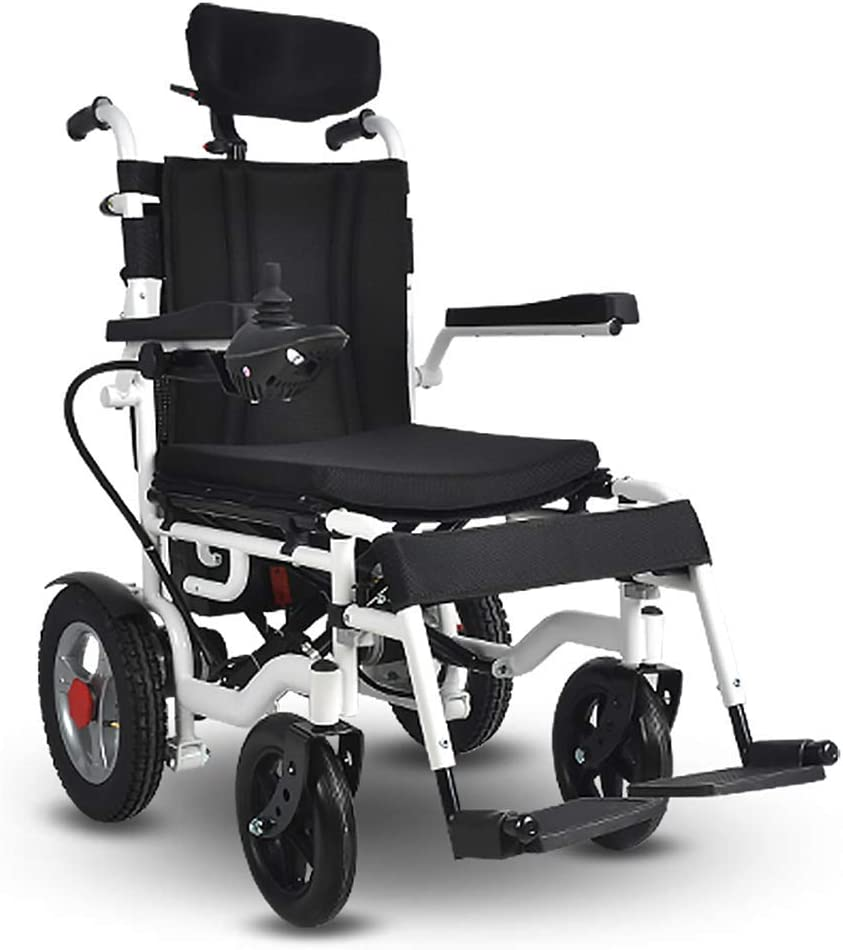 SISHUINIANHUA Heavy Duty Challenge the lowest price Electric half with Headrest Wheelchair Fold