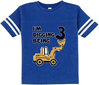 3rd Birthday - Bulldozer Construction Party Cute Toddler Jersey T-Shirt