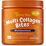 Premium Multi-Collagen for Fido - Multi-Collagen Bites are supplements with collagen peptides and a blend of advanced ingredients that provide hip, joint, cartilage, skin, and antioxidant support. Featuring Balanced Kollagen - At 150 mg per chew, Bal...