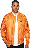Members Only Men's Ma-1 Bomber Jacket, Sunkist, Large