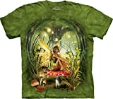 The Mountain Men's Toadstool Fairy T-Shirt, Green, Medium