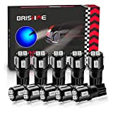BRISHINE 194 LED Bulbs Extremely Bright Ultra Blue 5630 Chipsets 168 2825 175 T10 W5W LED Replacement Bulbs for Car Interior Dome Map Door Courtesy Trunk License Plate Lights(Pack of 10)
