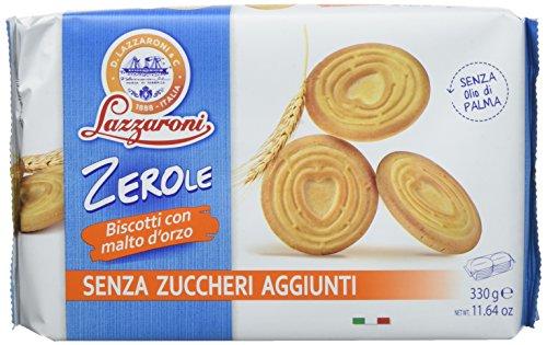Lazzaroni Zerole-Biscotti con Malto d'Orzo - Pacco da 10 x 330 gr