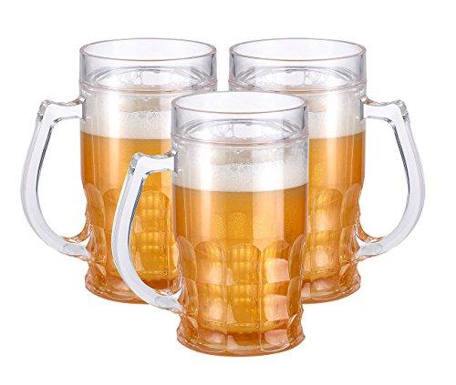 3 chopes de bière rafraîchissantes à double paroi 0,3 litre [Rosenstein & Söhne]
