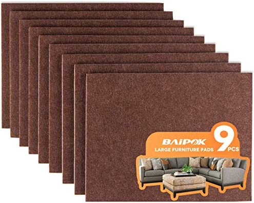 Furniture Pads Set of 9 Self Adhesive Furniture Felt Pads 8 x 6 x 1 5 Cuttable Felt Chair Pads product image