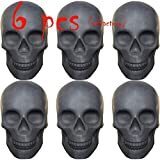 Skull Charcoal (Fireproof)(Refractory) Imitated Human Skull Gas Log for Indoor or Outdoor Fireplaces, Fire Pits Halloween Decor