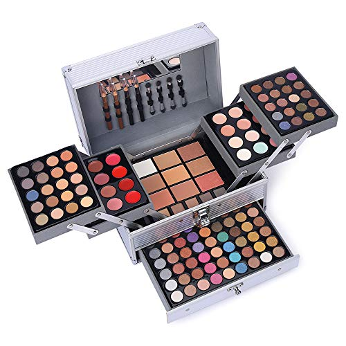 132 Color All In One Makeup Gift Set Kit- Includes 94 Eyeshadow, 12 Lip Gloss,...