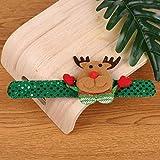 CZYSKY Pulsera de Navidad, Pulseras niños, Pulsera navideña con luz LED, muñeco de Nieve de Papá Noel, Pulsera navideña para niños para niños y niñas,Ciervo de Navidad,1 PCS