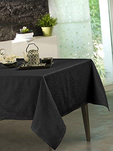 CALITEX Tischdecke Damassee Stacy schwarz 150x 250