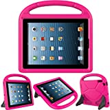 Kids Case for iPad 2 3 4 - TIRIN Shock Proof Convertible Handle Light Weight Durable Super Protective Stand Cover for iPad 4, iPad 3 & iPad 2 2nd 3rd 4th Generation Tablet,Rose