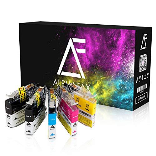 Alphafax 5 Tintenpatronen kompatibel für Brother LC-121 LC-123 MFC-J 245 4310 4410 4510 4610 470 4710 475 650 6520 6720 6920 870 DW