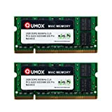 QUMOX Memoria SODIMM DDR2 Apple 4GB Kit (2 x 2GB) PC2-6300 PC2-6400 800MHz para iMac y Macbook
