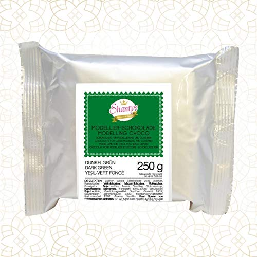 Premium Modellierschokolade - GRÜN 250 g - Schokolade, Modelliermasse - Shantys