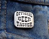 Officiel Bière Taster broches Pin's Broche Post UK gratuit en étain badge à épingle à boire Bière Vin Pub Bar fête Real Ale