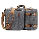 CoolBELL 17,3 Zoll umwandelbar Aktentasche Rucksack Messenger Bag Mehrzweck Reiserucksack Herren Umhängetasche Schultertasche Business Travel Backpack Laptoptasche Notebooktasche(Grau)
