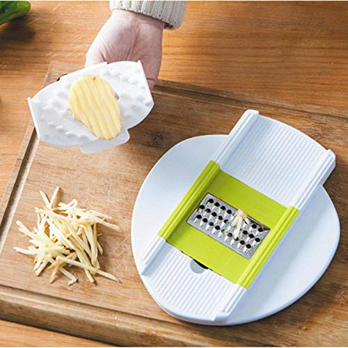 Kitchen gadgets cabbage shaved safety hand guards plastic handle vegetable cut safety hand guards-Green