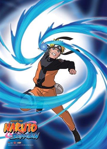 Great Eastern Entertainment 5241 Naruto Shippuden Naruto Rasengan Wall Scroll, 31 by 43-Inch