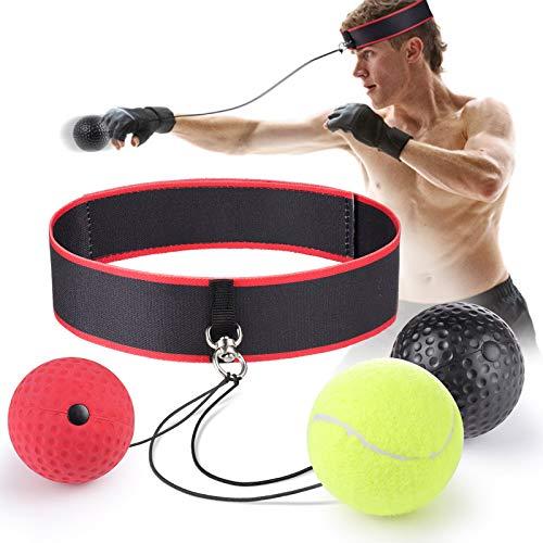 Remebe Boxing Reflex Ball, 3 Livelli Activpulse Reflex Ball con Archetto Regolabile, Boxing Trainer per la coordinazione Occhio-Mano, Punching Ball per Le reazioni