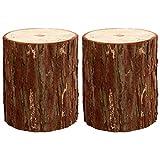 EXCEART 2 Stück Hölzerne Gartentöpfe Baumstumpf Holz Protokolle für Blumen Karten Home Hotel Hochzeitsdekoration - Größe L