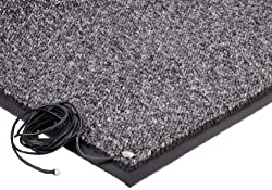 "Crown Cordless Stat-Zap Carpet Top Mat, Polypropylene, 36"" width x 60"" length x 063"" thickness, Pewter"
